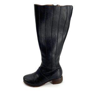Olukai Kumukahi Black Leather 7.5 Tall Boots